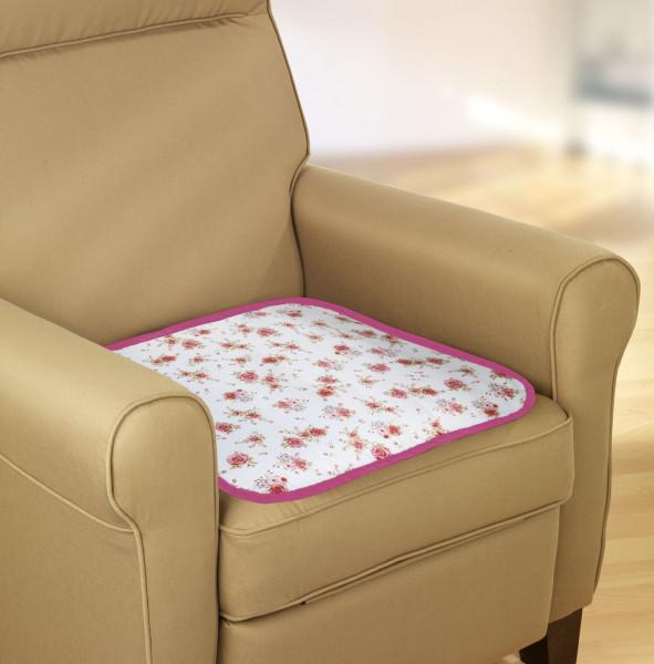 Inkontinenz-Sitzauflage Floral, 2er Set Stuhlauflage
