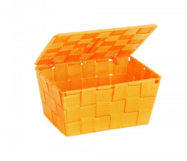 Aufbewahrungskorb mit Deckel Adria Orange