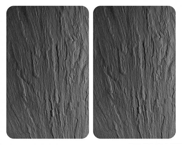 Glasabdeckplatten XL Schiefer, 2er