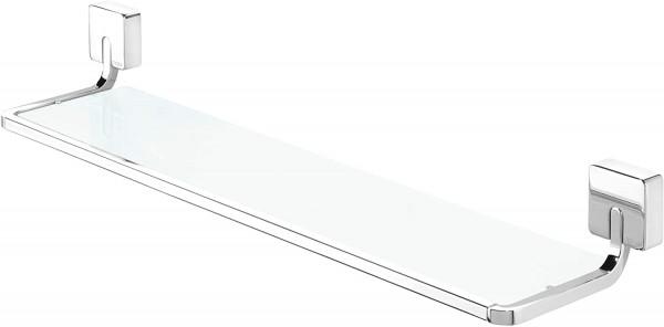 Tiger Impuls Ablage 60 cm, Sicherheitsglas gefrostet, Edelstahl verchromt