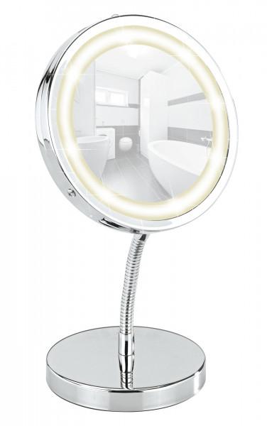 LED Kosmetikspiegel Brolo, Standspiegel 3-fach Vergrößerung