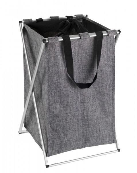 Wäschesammler Uno grau meliert