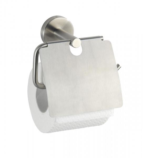 Toilettenpapierhalter Bosio mit Deckel, matt
