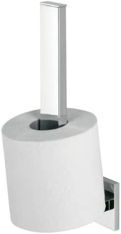 Items Toilettenpapierhalter für Ersatzrollen, Edelstahl verchromt