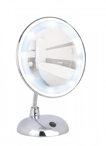 LED Kosmetikspiegel Style Chrom Standspiegel, 3-fach Vergrößerung