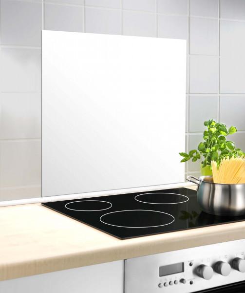 Glasrückwand Weiß 60 x70 cm