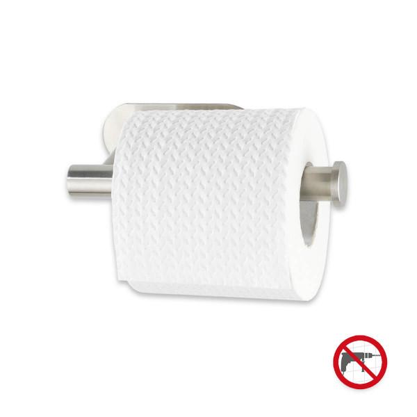 Toilettenpapierhalter Salve Edelstahl glänzend,Klebebefestigung,rostfrei,