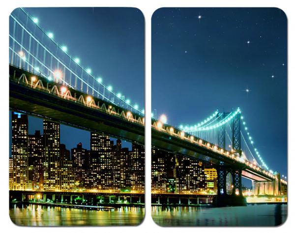 Glasabdeckplatten .Brooklyn Bridge 2er