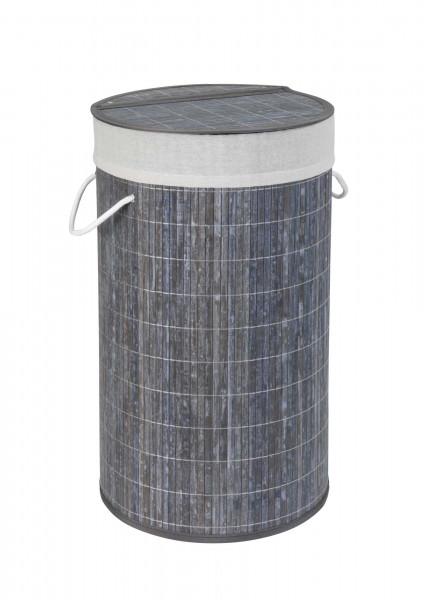 Wäschetruhe Bamboo Grau Wäschekorb, 55 l