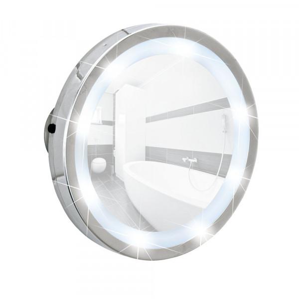 LED Leuchtspiegel Mosso mit 3 Saugnäpfen, 3-fach Vergrößerung
