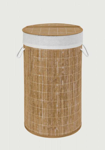 WENKO Wäschetruhe Bamboo natur