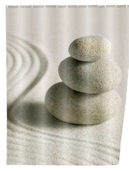Duschvorhang Sand & Stone, 180 x 200 cm waschbar