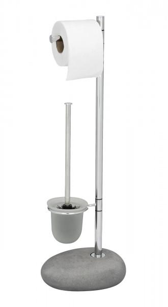 Stand Toilettenbürste Pebble Stone grau