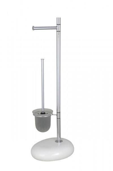 Stand WC-Garnitur Pebble Stone White