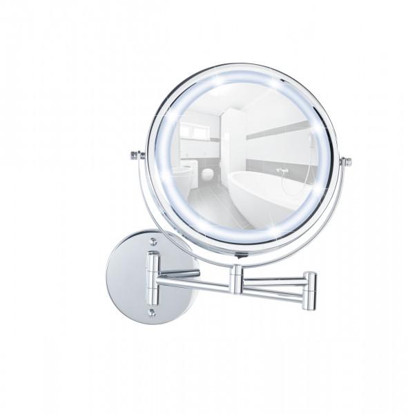 Power-Loc® LED Wandspiegel Lumi 5-fach Vergrößerung, Befestigen ohne bohren