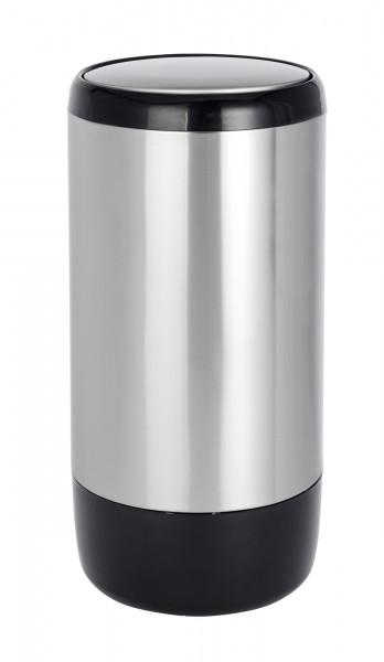 Schwingdeckeleimer Loft Edelstahl rostfrei, 30 Liter