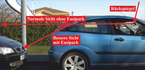 Einpark und Rangier Hilfe Easy Park Rückscheibe Größe 13,5 x 9 cm