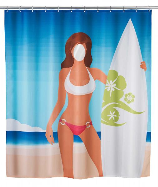 Duschvorhang Surfing Girl waschbar