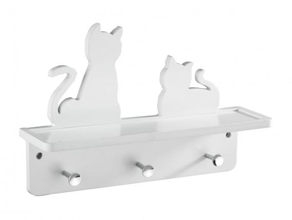 Wand-Garderobe Katzen mit Ablage