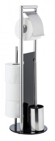 Stand WC-Garnitur Ravina, Edelstahl glänzend