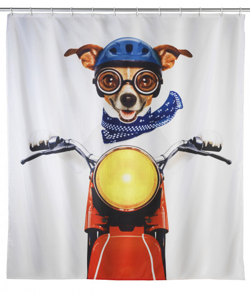 Duschvorhang Biker Dog, 180x200cm