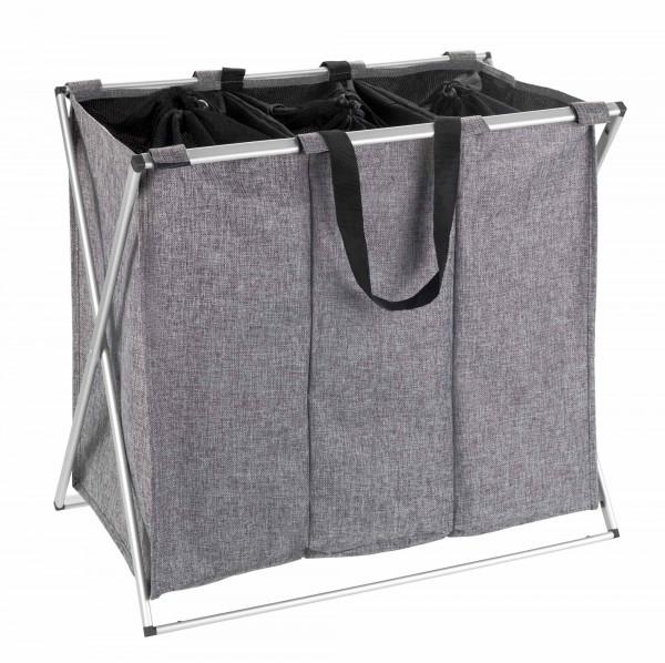 Wäschesammler Trio Grau meliert