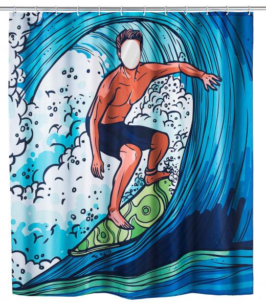 WENKO Duschvorhang Poly/PEVA Surfing Boy