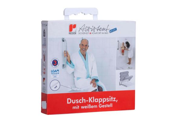 Duschklappsitz weiß