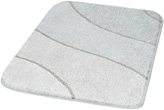 BadteppichWave, Polyacryl, weiß, 55 x 65 cm