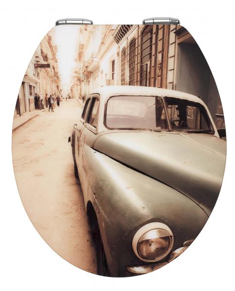 WC-Sitz Hochglanz Acryl Old-Time Car