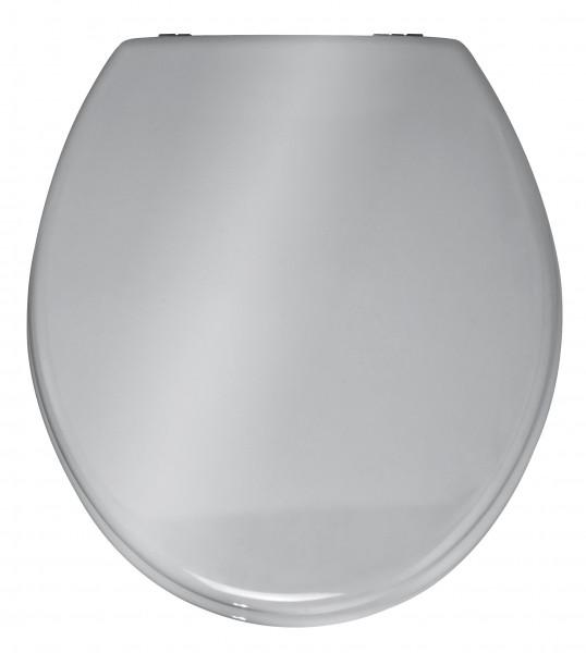WC-Sitz Prima, silber glänzend, MDF