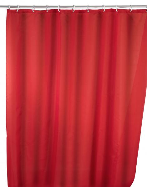 Anti-Schimmel Duschvorhang Uni Red, 180 x 200 cm waschbar