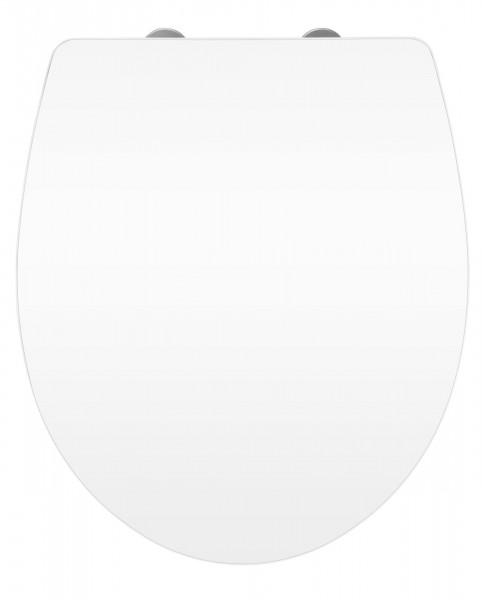 WC-Sitz Hochglanz Acryl White Absenkautomatik, Fix-Clip Hygiene Befestigung