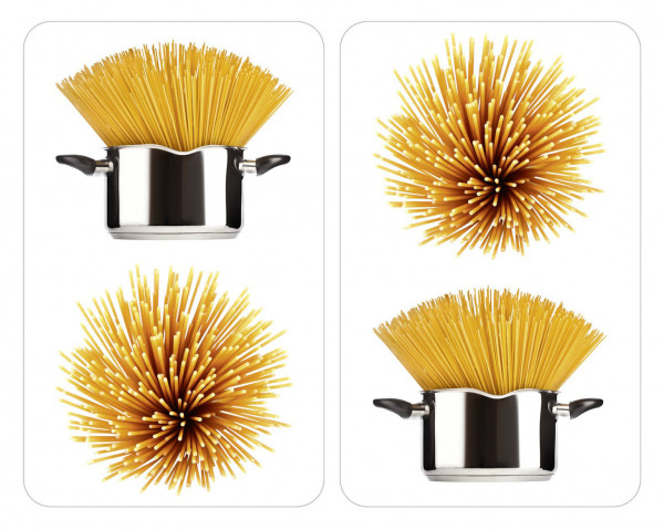 Glasabdeckplatte Universal Spaghetti, 2er Set für alle Herdarten