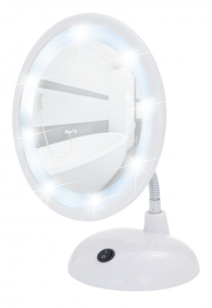 LED Kosmetikspiegel Style Weiß Standspiegel, 3-fach Vergrößerung