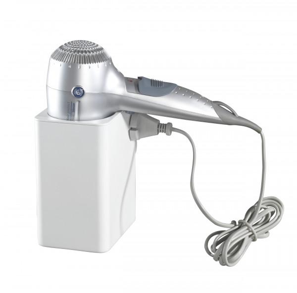 Static-Loc® Haartrocknerhalter Osimo Weiß Befestigen ohne bohren