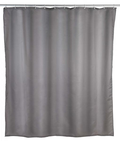 Duschvorhang Uni Grau, 240 x 180 cm