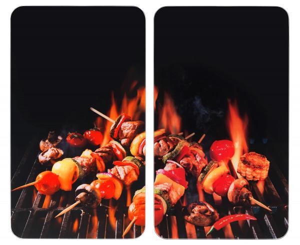 WENKO Barbecue Glasabdeckplatte Herdabdeckplatte Platte Schneidbrett Spits
