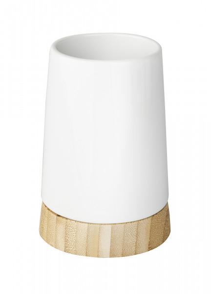 Zahnputzbecher Bamboo weiß
