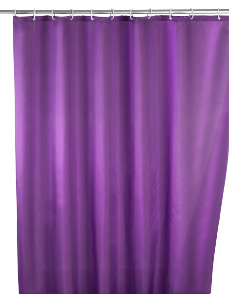 Anti-Schimmel Duschvorhang Uni Purple, 180 x 200 cm waschbar
