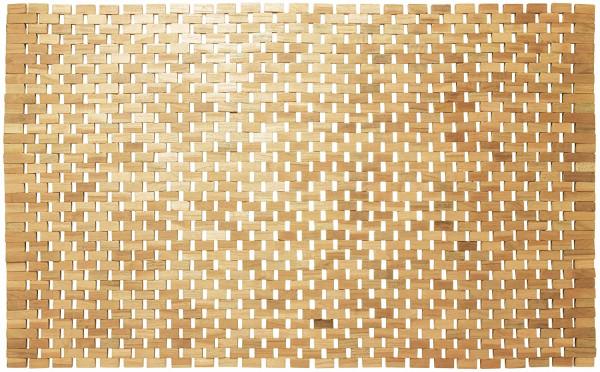 Badteppich Woodblock, Holz, 52 x 90 cm