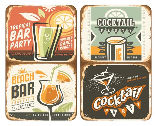 Glasabdeckplatten Cocktail, 2er Set