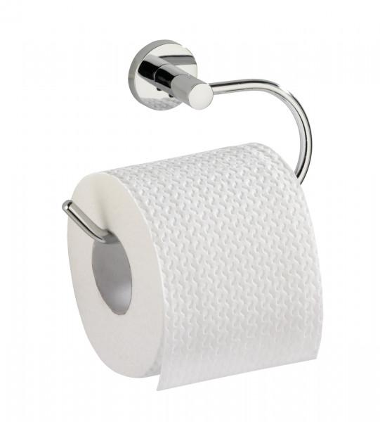 WENKO Toilettenpapierhalter ohne bohren, Chrom, WC Klopapierhalter, Rollenhalter