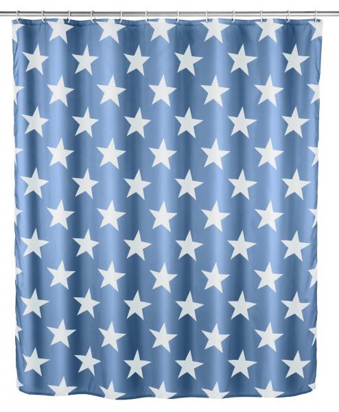 Duschvorhang 180x200 Stella blau antisch