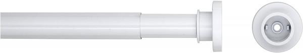 Teleskop Duschvorhangstange, Durchmesser 28 mm, Aluminium, weiß, 80 x 130 cm