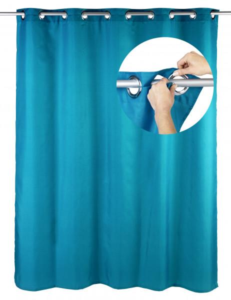 Duschvorhang Comfort Flex Petrol, 180 x 200 cm waschbar
