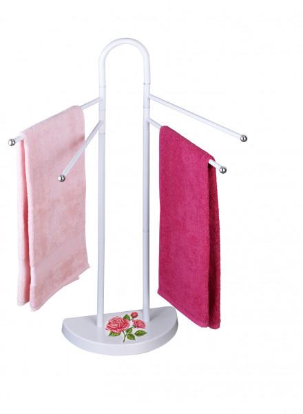WENKO Handtuch Ständer ROSEN-ROMANTIK