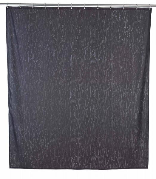 Duschvorhang Deluxe Grau, mit glänzenden Applikationen, 180 x 200 cm waschbar
