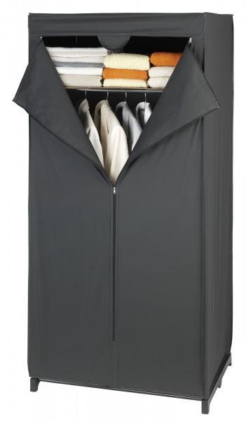 Kleiderschrank mit Ablage Deep Black