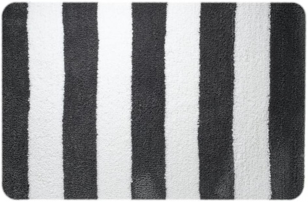Badteppich Linje, grau, 60 x 90 cm
